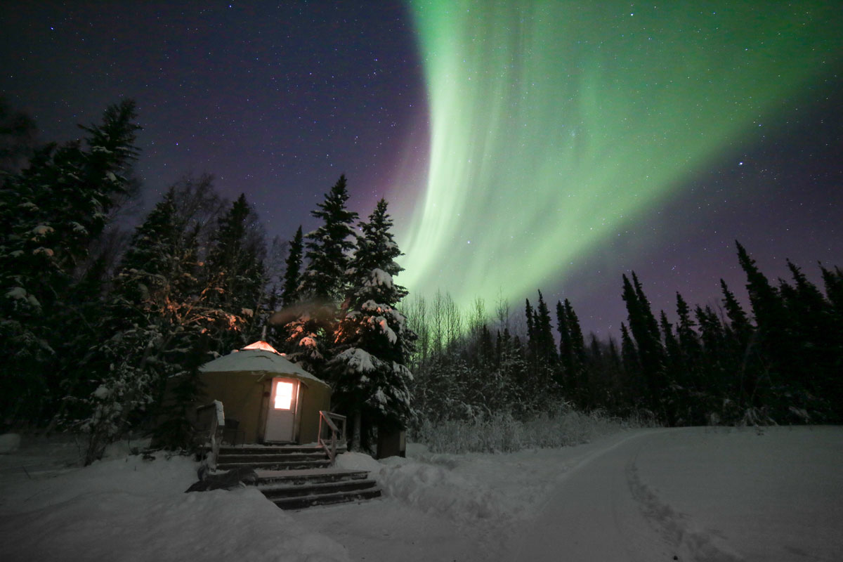 Aurora Viewing in Fairbanks, Alaska with Just Short of Magic