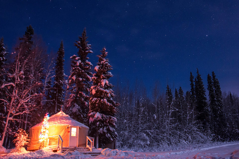 Yurt Stay in Fairbanks Alaska - Just Short of Magic